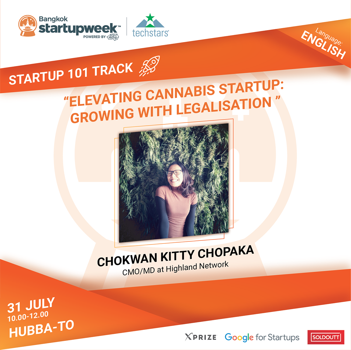 Elevating Cannabis Startup: Growing with Legalisation (English Session)